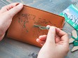Stitch-Your-Travels Leather Passport Cover