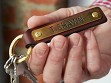 Leather Key Fob with Bridle Nameplate