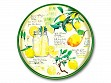 Round Lacquer Serving Tray - Lemonade