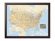 US Traveler Map - Framed & Personalized