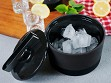 Ice Bucket With Lid & Tongs