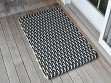 Nautical Door Mat - Navy & Light Tan - Small