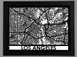 Laser Cut Maps - Los Angeles
