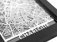 Stainless Steel City Maps (5 x 7) - Charlotte