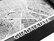 Stainless Steel City Maps (5 x 7) - Guadalajara