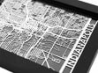 Stainless Steel City Maps (5 x 7) - Indianapolis