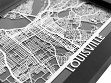 Stainless Steel City Maps (5 x 7) - Louisville