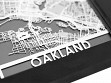 Stainless Steel City Maps (5 x 7) - Oakland