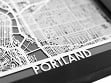 Stainless Steel City Maps (5 x 7) - Portland