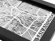 Stainless Steel City Maps (5 x 7) - San Antonio