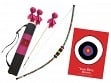 Kid-Friendly Archery Set with Quiver Bag - Flower