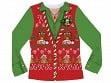 Ladies' Ugly Xmas Sweater Vest T-shirt - S