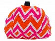 Patterned Makeup Case - Pink/Orange ZigZag