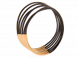 Bangle Bracelets - Black with Gold