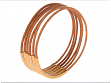 Bangle Bracelets - Natural Light Brown with Gold