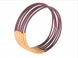 Bangle Bracelets- Berry Metallic with Gold