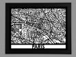 Laser Cut Maps - Paris