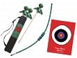 Kid-Friendly Archery Set with Quiver Bag - Peacock