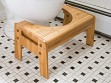 Adjustable Bamboo Toilet Stool