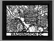 Laser Cut Maps - Washington